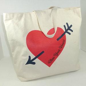 Draper James Bags - Draper James Bless Your Heart Canvas Tote Bag